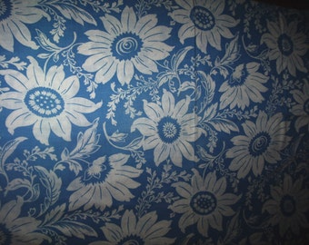 Vintage Floral  Cotton Feedsack Fabric 36 x  44 inches