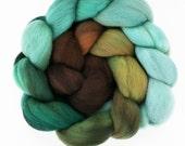 "Ombre Gradient Polwarth Wool Spinning Fiber, 4 oz, ""Landscape"""