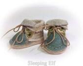 OOAK beige n green  Blythe  boots