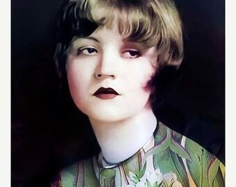 On Sale Portrait, Young Miss Marple...8x10,  archival fine art giclee print. Photomontage, Digital Collage,