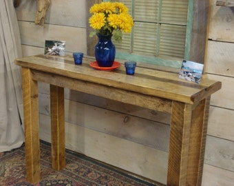 "Driftwood Console Table (50"" x 14"" x 30 - 36"" H)"