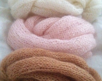 Kid Mohair/Silk Layering Knit Scarves