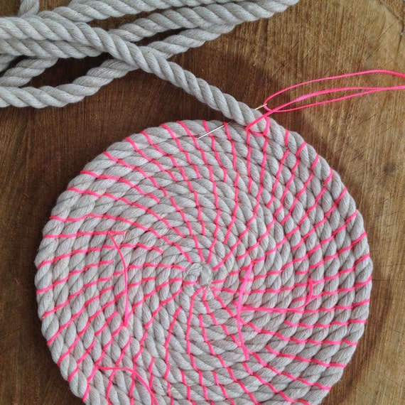 Materials For Basket Making : Coil rope bowl tutorial and materials woven basket