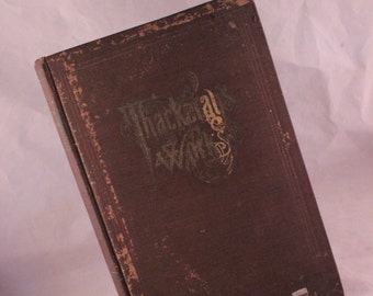 Antique/Vintage Early Thackaray's Works Brown Hardback Book