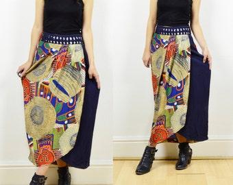 90s boho skirt, wrap skirt, boho wrap skirt, hippie skirt, 90s ethnic print skirt, boho skirt, 90s grunge, bohemian skirt, wrap around skirt