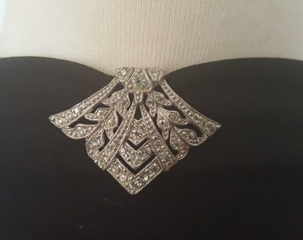 Gorgeous Art Deco Rhinestone Dress Clip