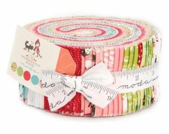 SALE Jelly Roll Strips - LIL' RED Moda Fabrics by Stacy Iest Hsu
