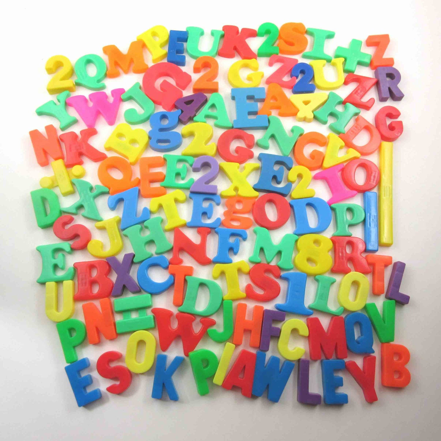 plastic magnet letters numbers tootsietoy magnetic lot of 67 vintage plastic colored alphabet letters numbers and symbols 201