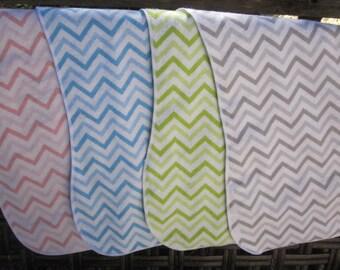 burp cloth gray chevron 4 burp cloths , burp cloth set