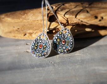 Gypsy- beautiful fused glass earrings