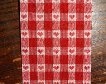 HUGE SALE Heart Ribbon, Heart Weave, Poly Cotton Blend, Valentines Day Craft Ribbon, Red & White Heart, Sweet Heart Ribbon