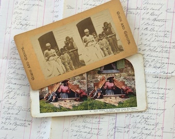 Stereoptic Viewer Cards Stereoscope Black Americana Victorian