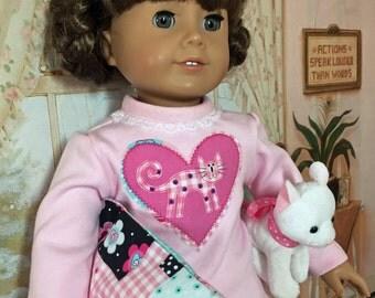 18 Inch Doll Clothes Kitty Cat Pajamas Set