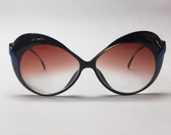 Vintage Saphira cat eyed Eye Glass Frames Glasses retro mod Eyeglasses black
