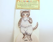Vintage Kitty Cucumber Paper Doll Costumes