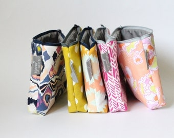 SALE - Large Cosmetic Bag, Choose Prints, Teacher Gift Under 20