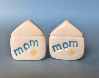 MOM Mothers Day Gift Little Clay House Miniature Figurine