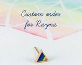 Rainbow triangle ring- Reserved listing for Rayna