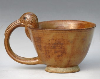 Curlew Teacup with Haystack Glaze--2 of 4