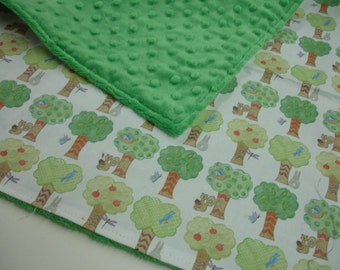 Tree Grove Baby Receiving Blanket or Lovey  17 X 17 READY TO SHIP On Sale On Sale