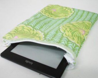 Delhi Blooms Makeup or Kindle Case Zippered Pouch with Minky On Sale