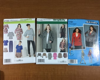 Simplicity 2190 2149 1781 Lot of 3 Sewing Patterns Sizes 4-6-8-10-12-14 Design Your Own Outfits Lots of Options