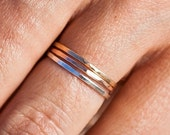 Valentines Day Sale The Trio |Thin Band Ring Set | Stacking Rings | Handcrafted Rings