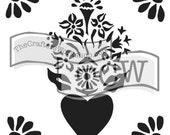 Corazon Stencil: TCW652 6x6