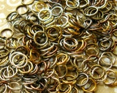 Jump Ring Assortment - Set of Over 300 - 6mm Mixed Finishes - Gold, Silver, Gunmetal, Bronze, Copper Finishes (GFD0025)