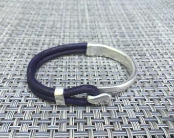 Silver Hook Half Cuff Bracelet