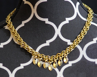 Gold Scale Chainmail Necklace