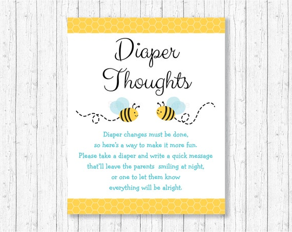 picture relating to Late Night Diapers Free Printable titled Info regarding Bumble Bee Diaper Brain Late Night time Diaper Youngster Shower Match