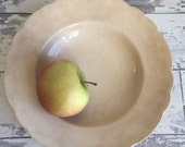 Antique Distressed Flat Soup Bowl - Homer Laughlin