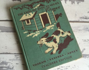 Vintage Childs Reader - The Laidlaw Basic Readers Primer - Teacher's Edition - 1940 Penny Molly