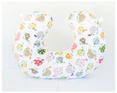TURTLES Boppy Cover  / Zipper closure  /  Beautiful minky print with yellow minky dimples / Great neutral gender baby gift