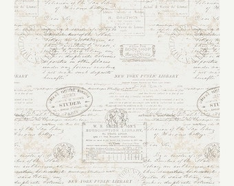 SALE Paperie Stamped - 1/2 Yard