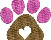 Mini Paw Print machine embroidery designs 6 sizes