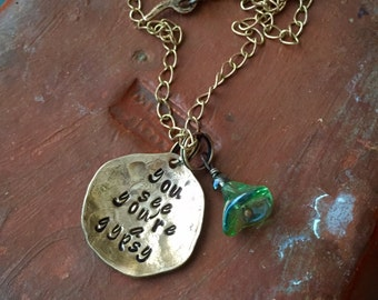 Fleetwood Mac ~ Stevie Nicks Style Copper necklace or bracelet ~ You see you're a gypsy  ~ metal stamped