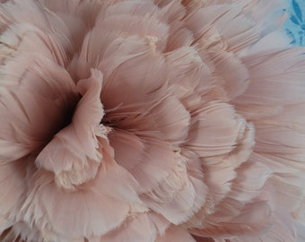 Goose Nagoire Feathers Champagne Pink For Bridal, Millinery, Costume, Floral Arrangments