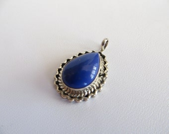 Lapis Lazuli Gemstone Pendant With Sterling Silver