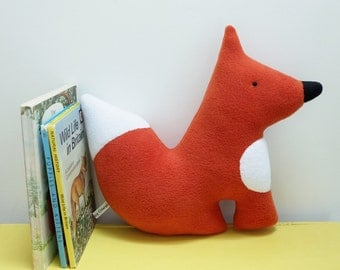 Woodland Fox Plush Toy, Cute Red Fox Fleece Soft Toy, British Wildlife Plush