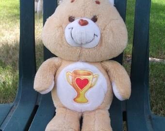 Vintage Champ Care Bear Plush Doll