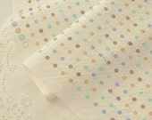 4171 - Polka Dot Eyelet Embroidered Cotton Fabric - 43 Inch (Width) x 1/2 Yard (Length)