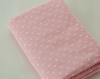 4175 - Japanese Heart Double Gauze Cotton Fabric - 61 Inch (Width) x 1/2 Yard (Length)