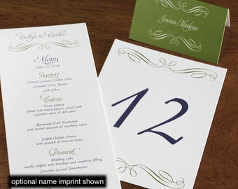 Evelyn Menu, Table Marker & Place Card Set