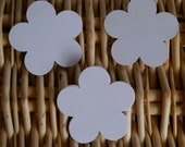 """20 white or pink flower shape gift tags toppers 2"""".punch hole option."""