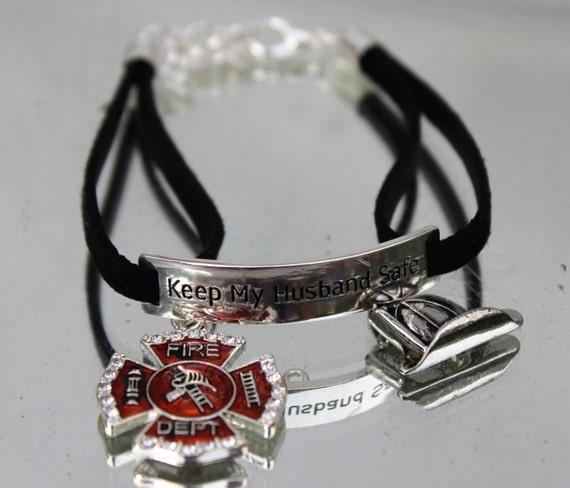 Items Similar To Firefighter Fireman Fire Dept Wife Bride Wedding Gift Charm Bracelethelmet On Etsy