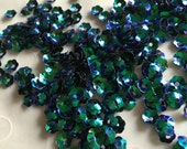New Item -- 7g of 6 mm Cupped Flower Sequins in Iris Dark Green Color (approximately 525 ct.)