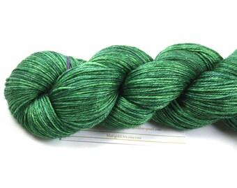 Alfalfa--hand dyed sock weight yarn, merino and silk, (437yds/100gm)