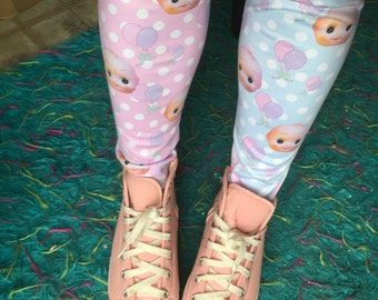 Kewpie Party Doll Leggings, Kewpie Doll Leggings, Fairy Kei Leggings, Doll Tights, Doll Leggings SALE!!